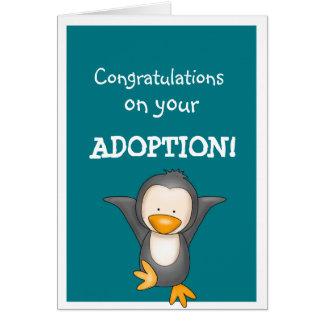 Saludos de la enhorabuena de la adopción tarjeta de felicitación