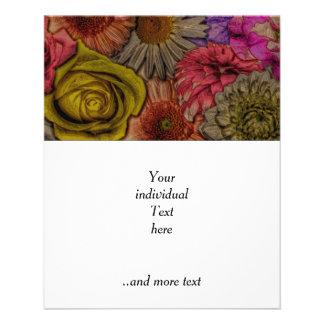 saludos de la flor apariencia vintage tarjetas informativas