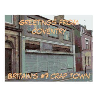 Saludos de la postal de Coventry