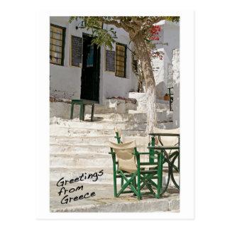 Postal Saludos de la postal de Grecia