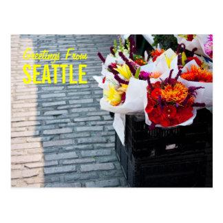 Saludos de la postal de Seattle