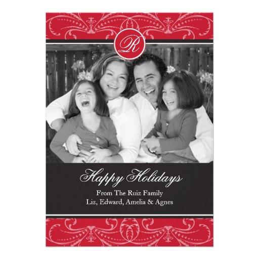 Saludos de la tarjeta de la foto del día de fiesta comunicados personales