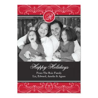 Saludos de la tarjeta de la foto del día de fiesta invitación 12,7 x 17,8 cm