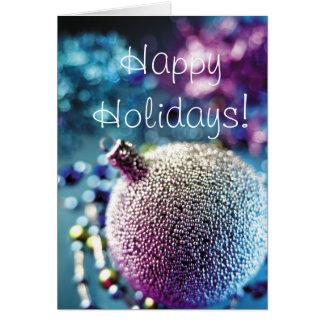 Saludos de las estaciones - decoración de Navidad Tarjeta De Felicitación