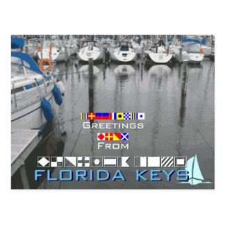 Saludos de las llaves de la Florida Postal