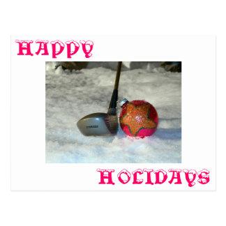Saludos de los golfistas postal