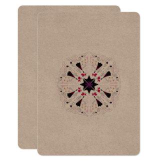 Saludos de lujo/papel viejo, árabe de la mandala invitación 12,7 x 17,8 cm
