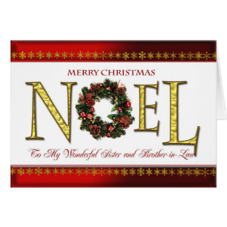 Saludos de Noel para la hermana y el cuñado Tarjeta