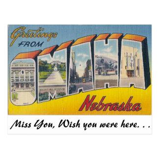 Saludos de Omaha, Nebraska Postal