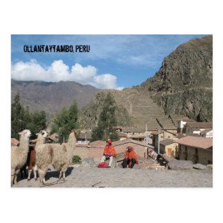 ¡Saludos de Perú! Postal