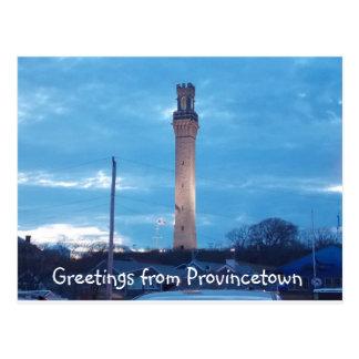 Saludos de Provincetown 2 Postal
