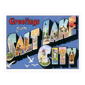 Saludos de Salt Lake City Utah Postal