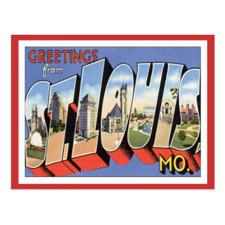 Saludos de St. Louis Missouri Postal