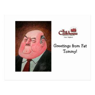 ¡Saludos de Tommy gordo! Tarjeta Postal