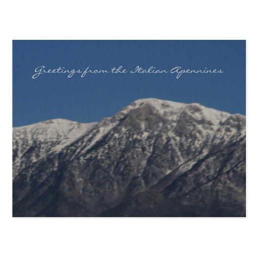 Saludos del Apennines italiano Postal
