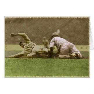 Saludos del béisbol del vintage del Yankee Stadium Felicitacion