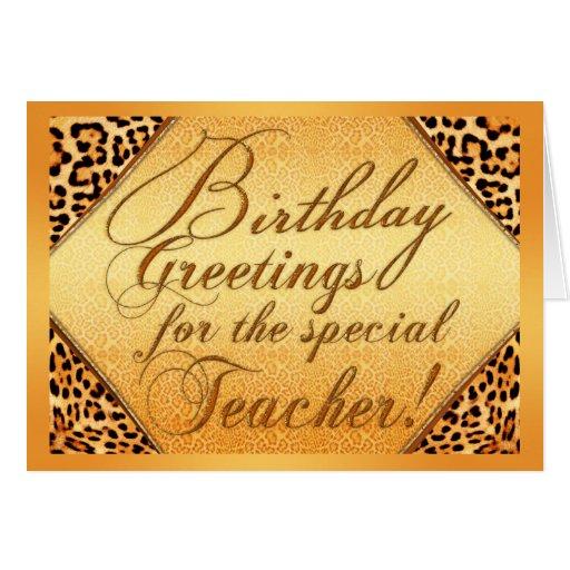 Saludos del cumpleaños para el profesor especial tarjetas