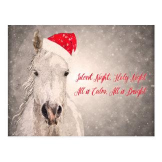 Saludos del día de fiesta de la postal del caballo