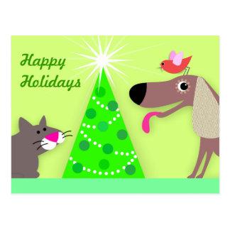 Saludos del día de fiesta de los canguros del postal