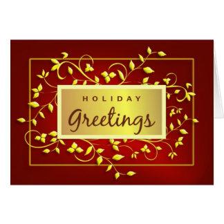 Saludos del día de fiesta - tarjeta de felicitació