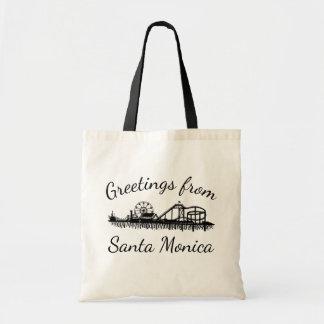Saludos del embarcadero Cali de Santa Mónica Bolso De Tela