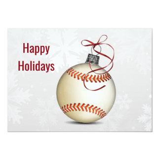 saludos del navidad del béisbol invitación 12,7 x 17,8 cm