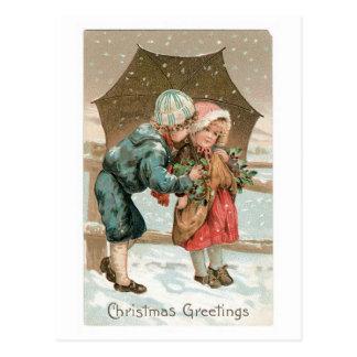Saludos del navidad postal