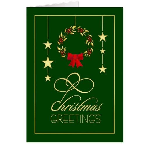 Saludos del navidad tarjetas de navidad elegante zazzle - Tarjetas de navidad elegantes ...