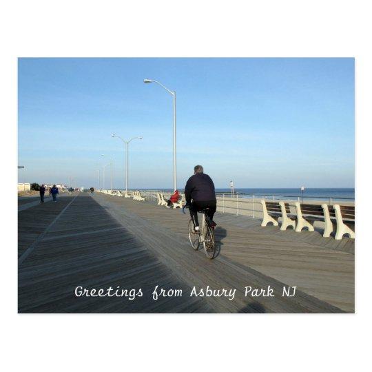 Saludos del parque NJ - Bicyclist de Asbury Postal