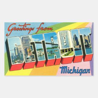 ¡Saludos del pegatina de Detroit!