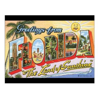 Saludos del poster del viaje de Florida_Vintage Postal