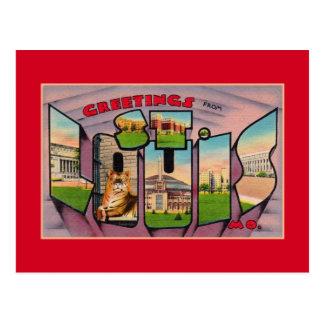 Saludos del vintage de St. Louis MES Postal