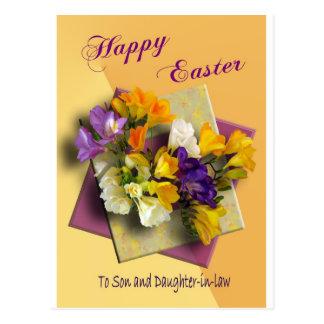 Saludos felices de Pascua de la postal del hijo
