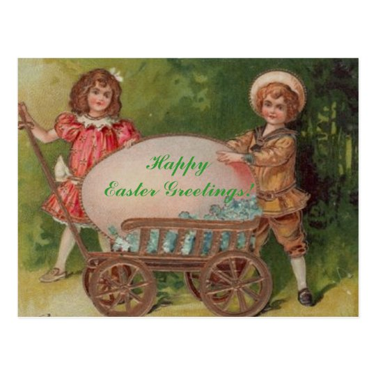 ¡Saludos felices de Pascua! Postal