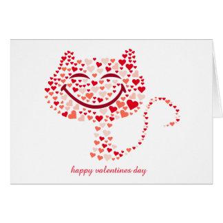 saludos felices del día de San Valentín Tarjeta De Felicitación