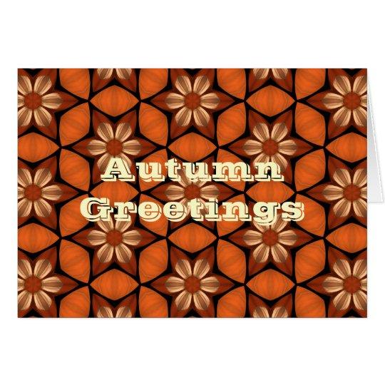 Saludos florales del caleidoscopio del otoño tarjeta de felicitación