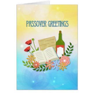 Saludos florales del Passover de la primavera Tarjeta De Felicitación