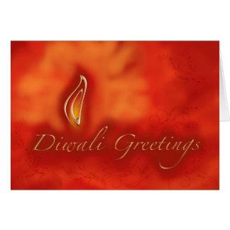 Saludos ligeros de Diwali Devali - tarjeta de