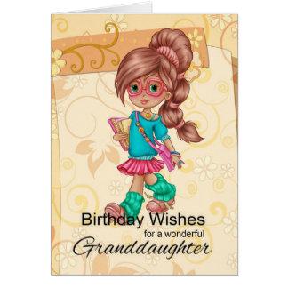 Saludos lindos y de moda de la nieta del tarjeta de felicitación