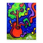 Saludos musicales por piliero tarjeta postal