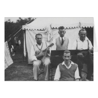 Saludos negros y blancos de la acampada musical - tarjeta de felicitación