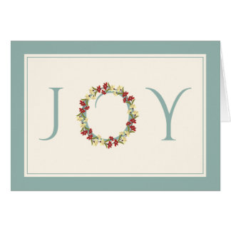 Saludos No-Religiosos de la guirnalda floral de la Tarjeta De Felicitación