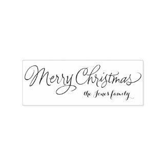 Saludos personalizados caligrafía de las Felices Sello De Caucho