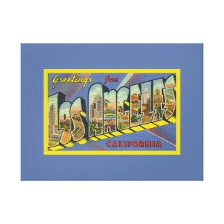 Saludos retros de California de las ilustraciones Impresiones De Lienzo