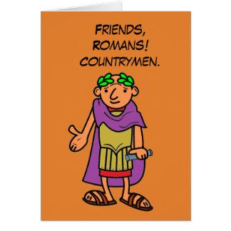 Saludos romanos del feliz cumpleaños del emperador tarjeta de felicitación