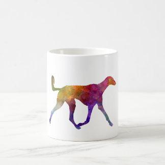 Saluki in watercolor taza de café