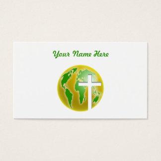 Salvación del mundo, su nombre aquí tarjeta de negocios