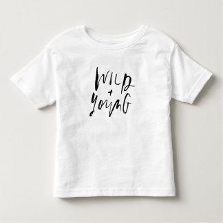 Salvaje + Camisa joven del bebé/del niño