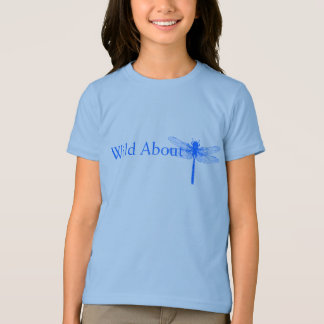Salvaje sobre libélulas camiseta