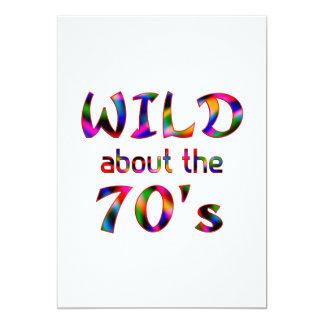 Salvaje sobre los años 70 invitacion personalizada